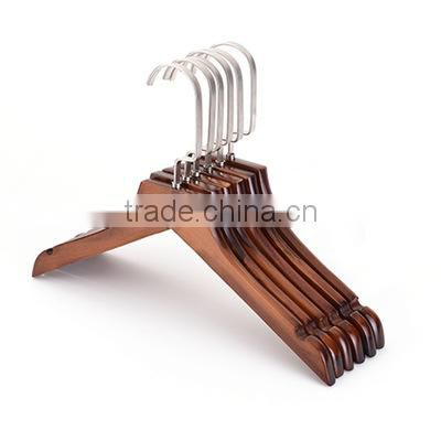 Girls multifunctional wood pants hanger cute wood child hanger kids wood coat hanger