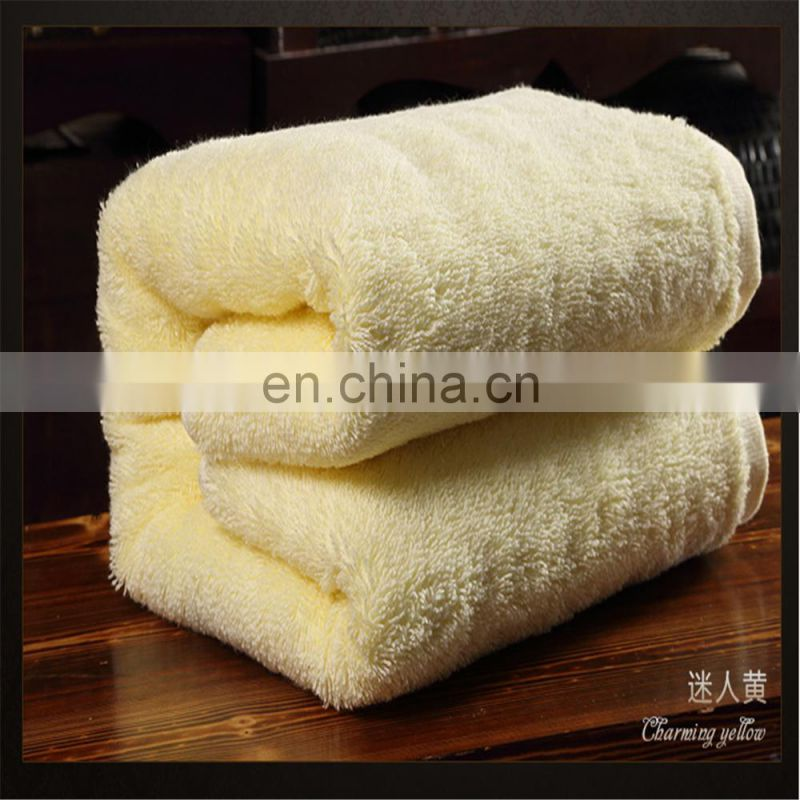 Wholesale Thicken Solid Color Five-Star Hotel 100% Cotton Bath Towel