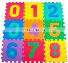 interlocking soft eva foam numbers 0-9 children's kids activity play mat