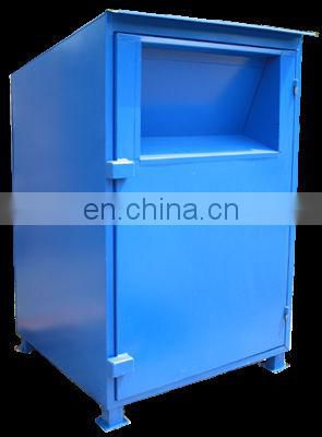custom powder blue medium boss clothing donation box Enclosure