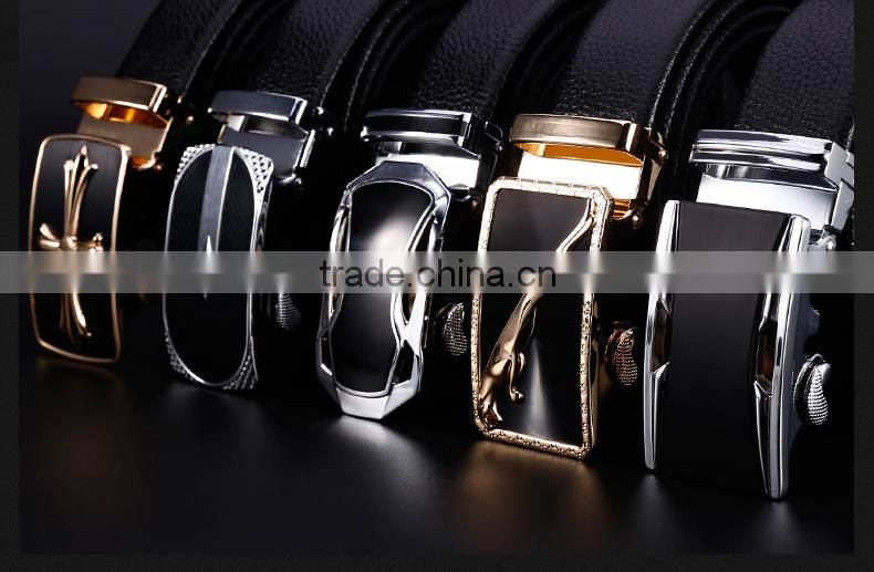 Variety of Designs Stylish Mens Genuine Leather Belt with Buckle Logo Customize