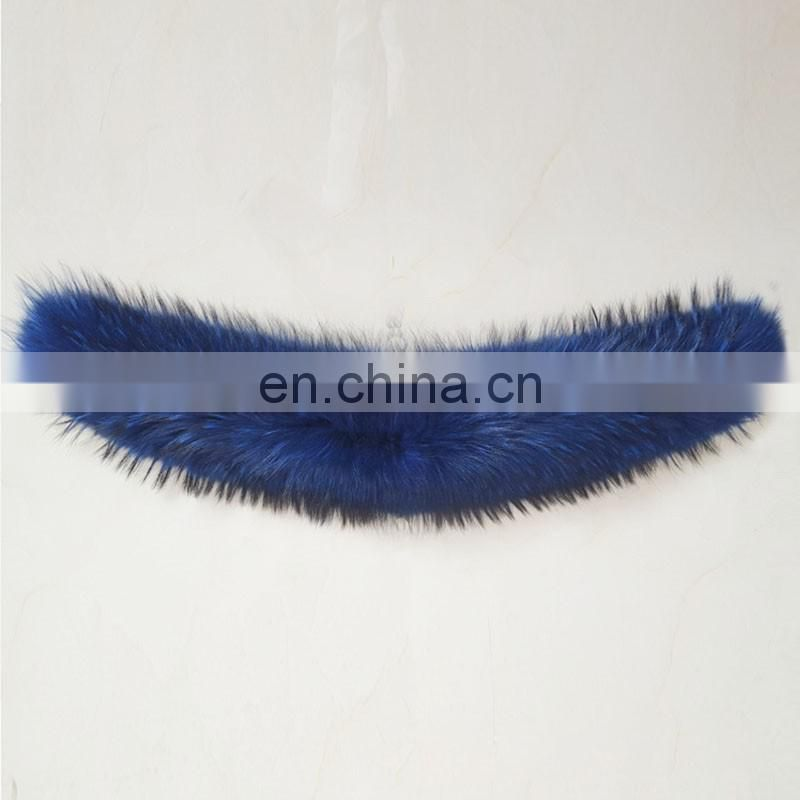 Classical pattern fashion style raccoon fur collar decoration for clothing