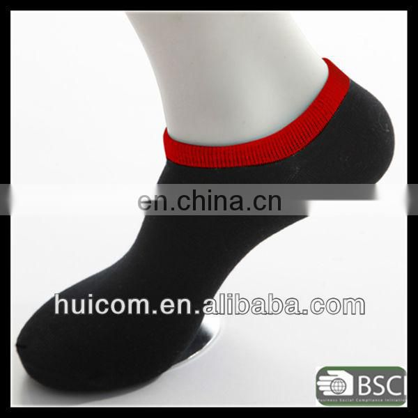 100% cotton polyester custom men sock