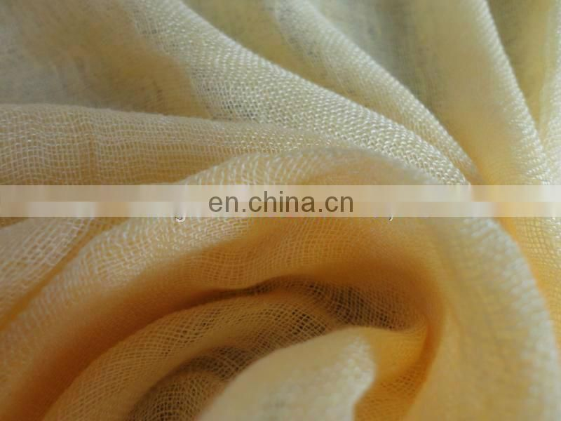 Worsted rayon linen scarf woven fabric