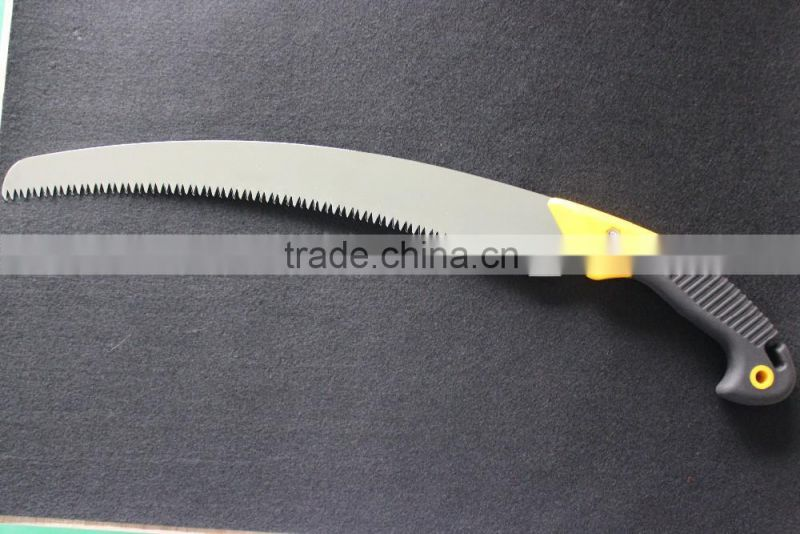 High grade curved pruning saw with ABS+TPR handle garden saw hand saw Model: P-416B
