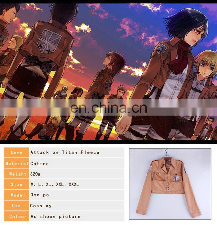 New arrival Anime 100% Cotton Attack on Titan jacket Cosplay hoddie Clothing(size:M/L/XL/XXL/XXXL) Scouting Legion