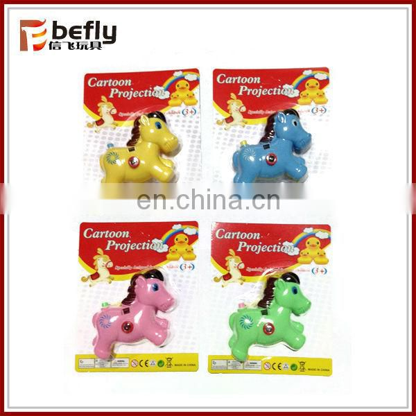 Yellow duck shape projector plastic camera mini toy