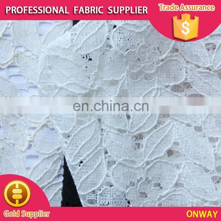 new design burnt-out polyester/cotton solid lace for all ladies' garment