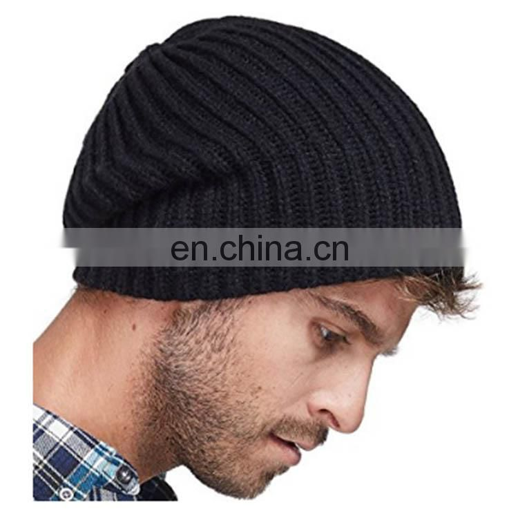 Winter Beanie Skull Cap Warm Knit Fleece Ski Slouchy Hat for Men/ Women