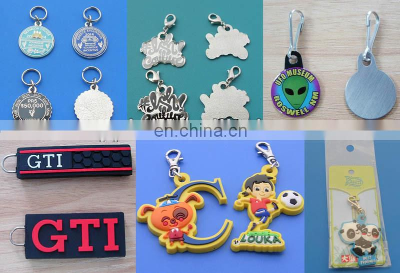 Die cut shape metal gold pendant charms with lobster clasp for clothing/handbag