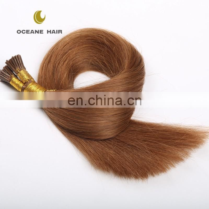 7a brazilian unprocessed virgin hair pre-bonded I tip hair wholesale price