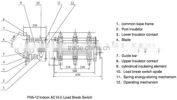 FN5-12 Series High Vacuum Indoor Load Break Switch