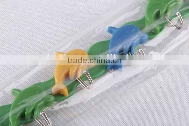Colorful dolphin shape plastic hook