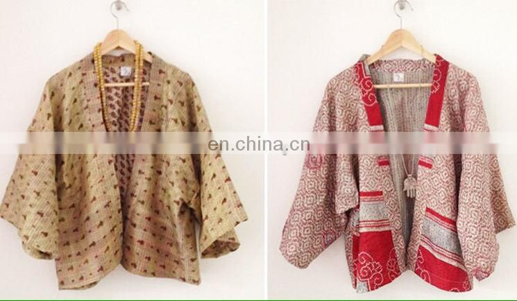 Hand Block Printed Jacket Women's Coat Winter Warm Coat