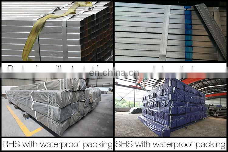 25*25*0.9MM BI square tube, pre galvanized square steel pipe Zinc40g 80g construct pipes