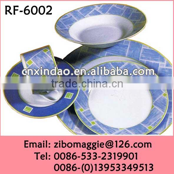 Hot Sale Disposable Wholesale Round Shape Dinner Set Ceramic Daily Use