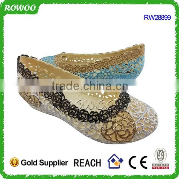 Hollow lady PVC PCU Sandal Shoes