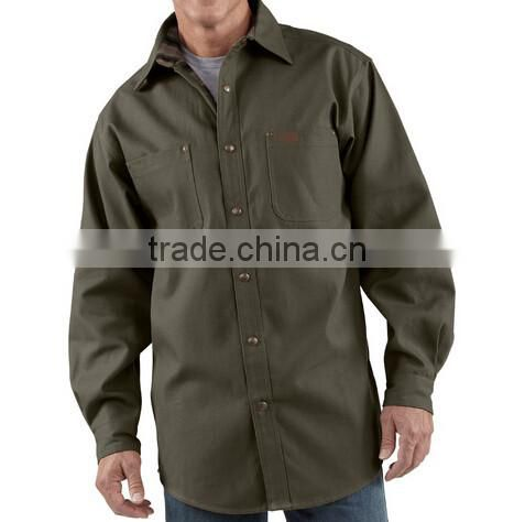 2014 trendy custom button up work shirts