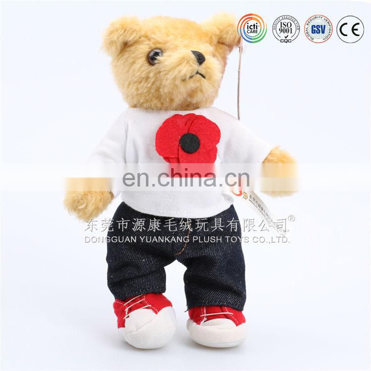 "10"" Promotion plush clothes teddy bear toys"
