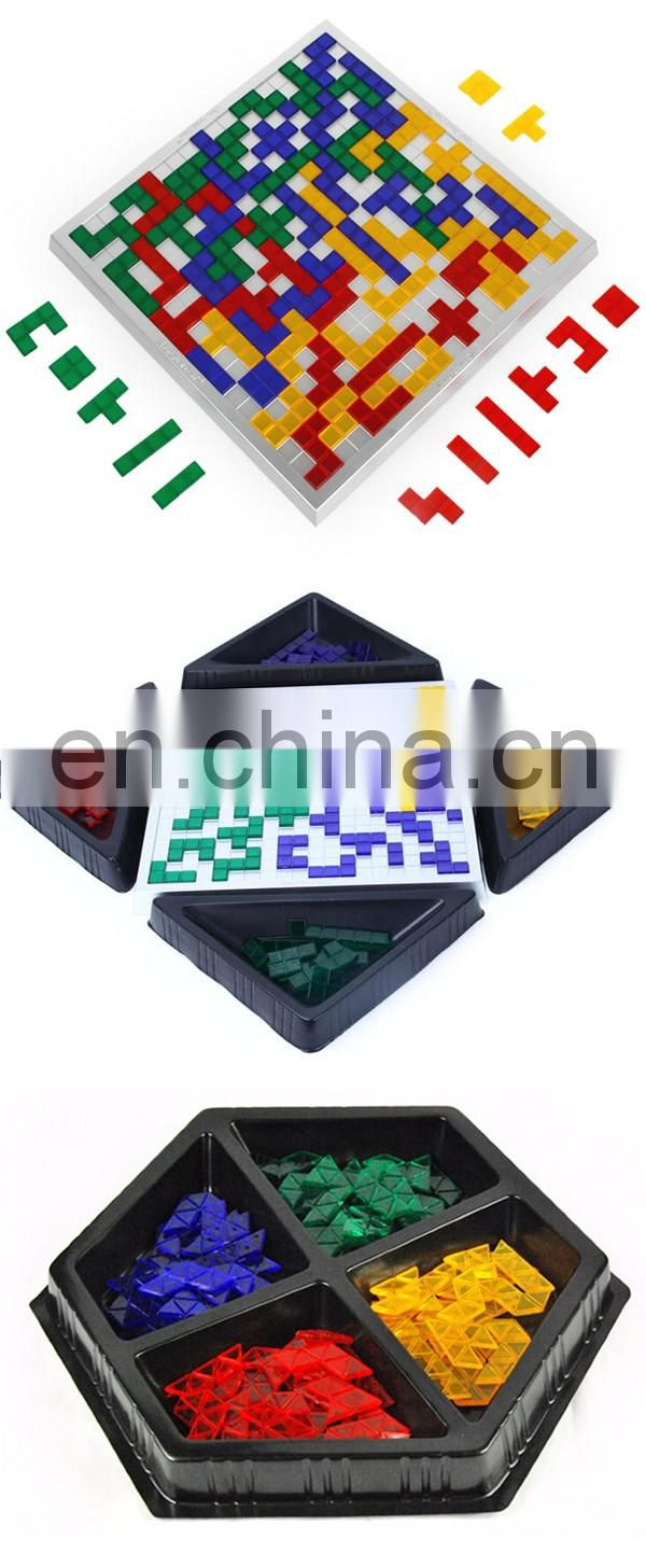 Hot sale intelligence squares games plastic kids toys educational