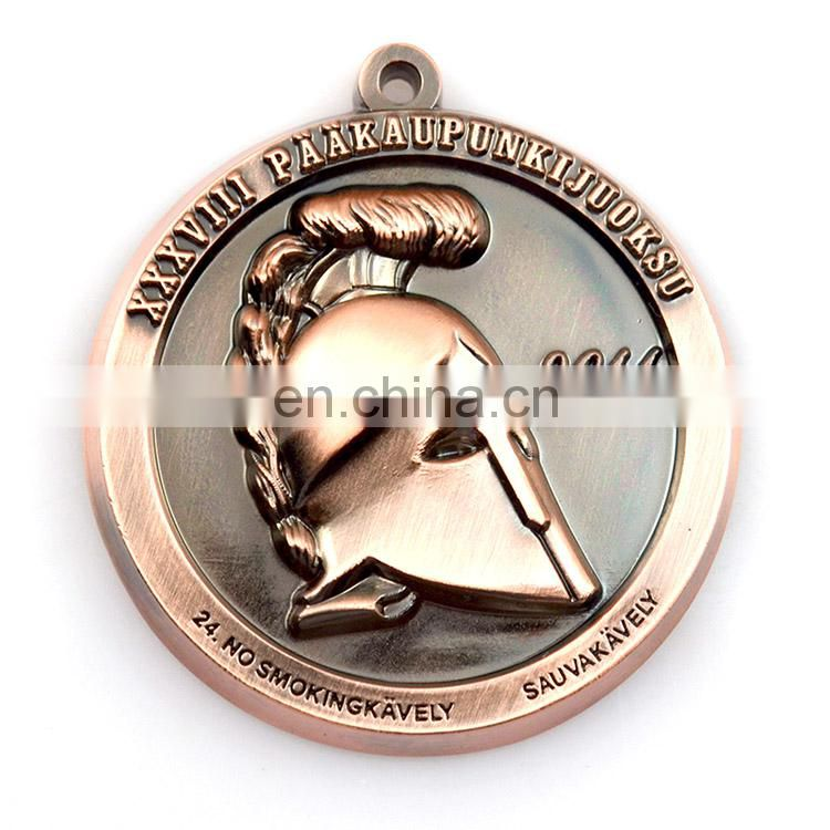 Newest customized souvenir 3d metal medal with ribbon