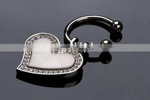 HOT PROFESSIONAL COUPLE GIFT LOVE DIAMONDS HEART KEYCHAIN