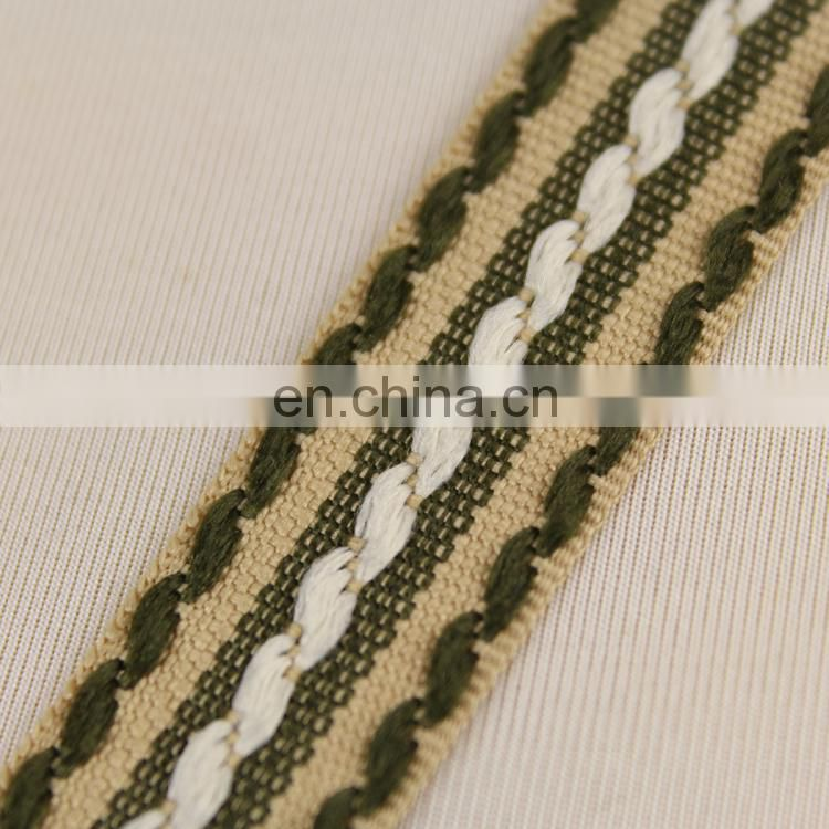 2015 fancy cotton embroidered ribbons for decorative RB0386