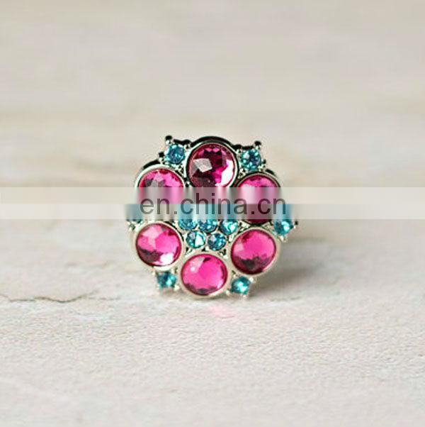 Bling hot sale colorful rhinestone buttons wholesale