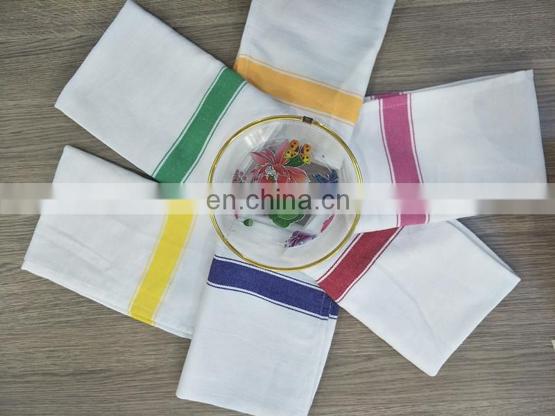100 % cotton China cheap colorful stripe kitchen dish towel