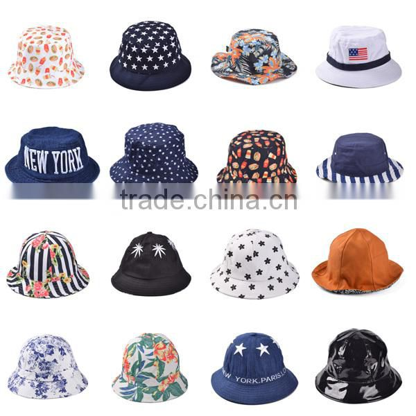 Custom high quality cheap print pattern bucket hat for adult
