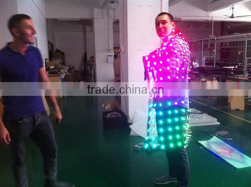 Best price dmx512/dvi/SD control led grid light curtain for dance hall