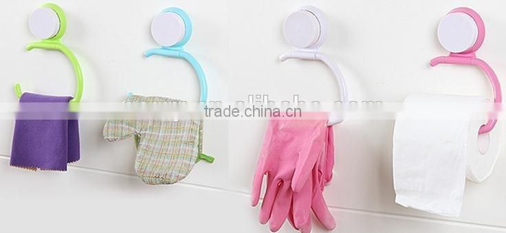 Vacuum suction cup kitchen and bathroom plastic shelf/holder/Towel rack/roll tissue stand
