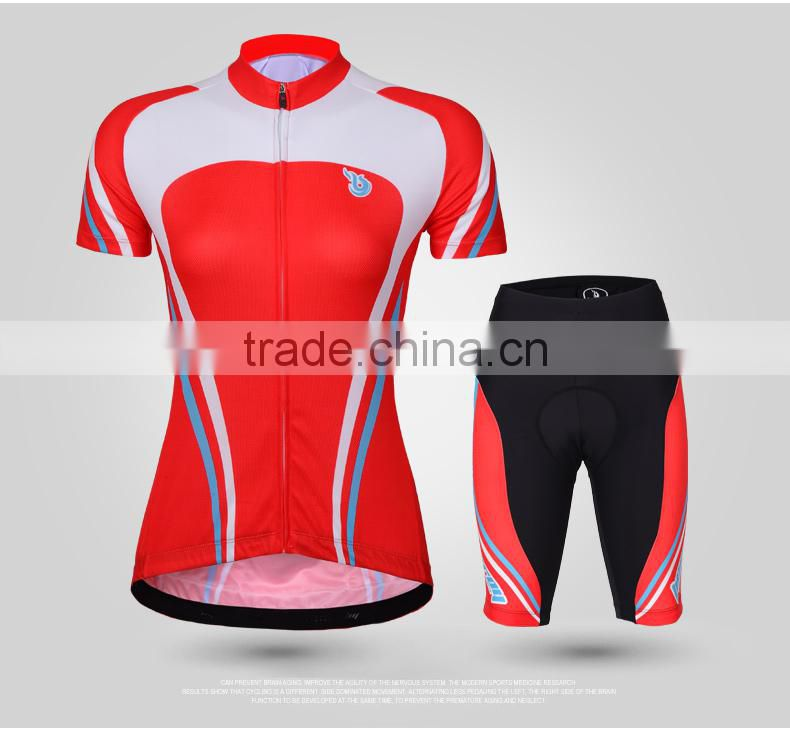 BEROY Slim Fit Cycling Womens Summer Jersey, Bike Wear Cycling Apparel