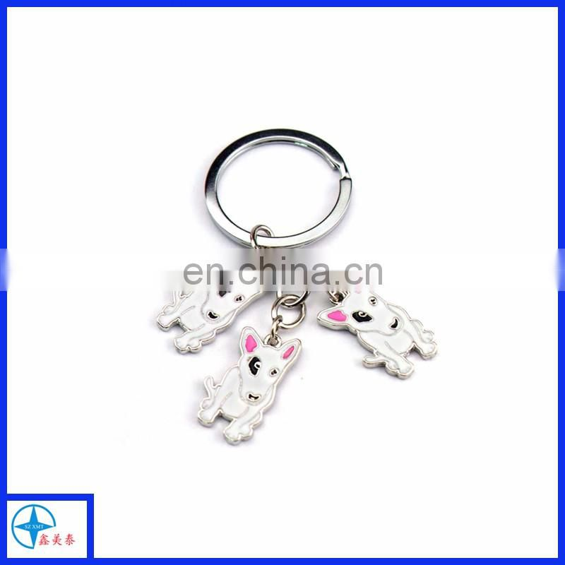 Dog shaped key chain, customize animal key chain