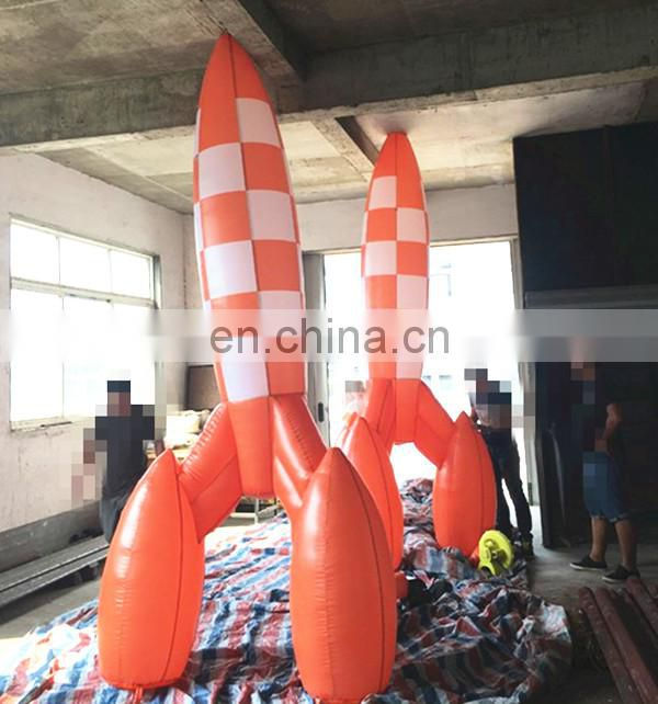 beautiful inflate rocket balloon/inflatable rocket replicas