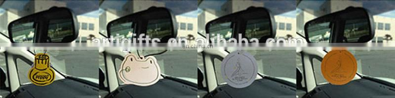 Bulk Funny Custom Novelty Anime Paper Car Scent Air Freshener Hanging with Own Logo