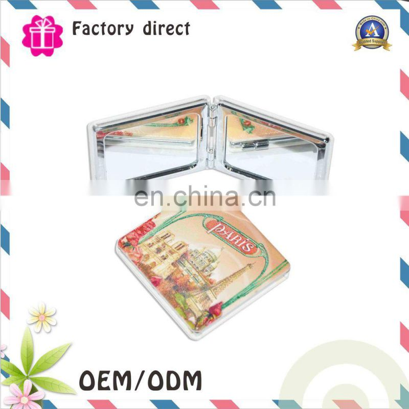 Wholesale travel size plastic rectangular double side cosmetic mirror sheet