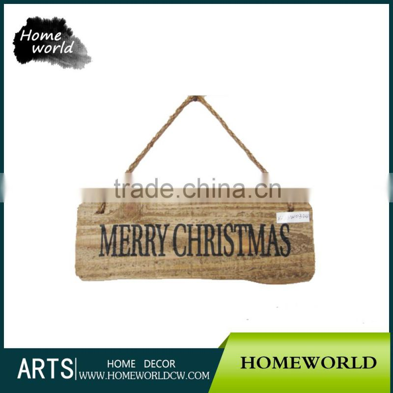 Eco-Friendly Merry Christmas Wood Wall Sign for Garden Decor