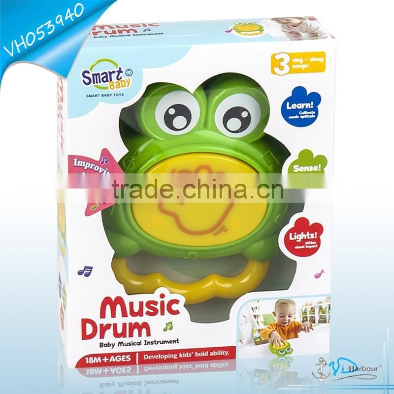 Lovely Frog Timbrel Baby Toy Drum