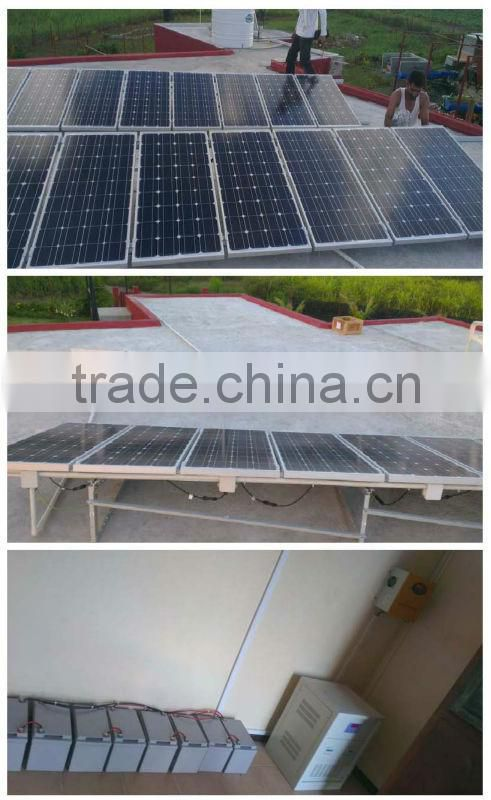 solar system produce in regular 50Hz, 220 volts AC electricity with security as circuit protection. All accessories have CE 500W