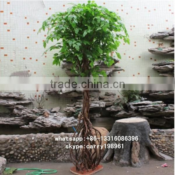 LXY082418 artificial plants and trees realistic ficus bonsai tree artificial banyan bonsai