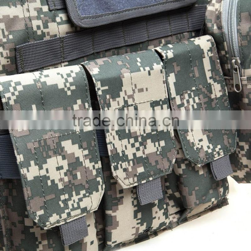 2016 Camouflage Hunting Military Tactical Vest Wargame Body Molle Armor Hunting Vest with 7 Colors