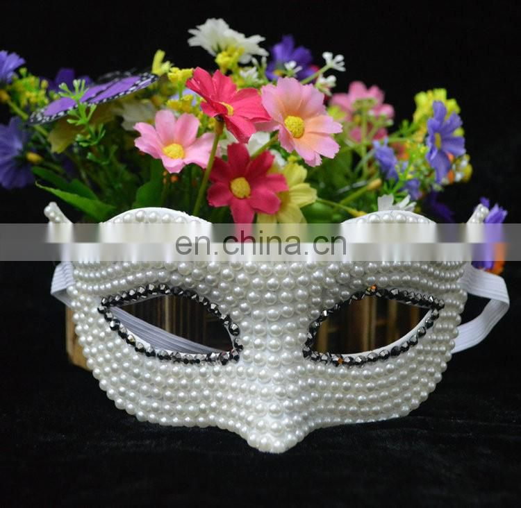 luxury high qualit for party handmade mask princess bride masquerade pearl masks