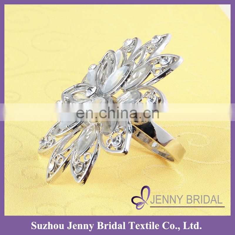 NR203-21 crystal diamond wedding rhinestone napkin rings