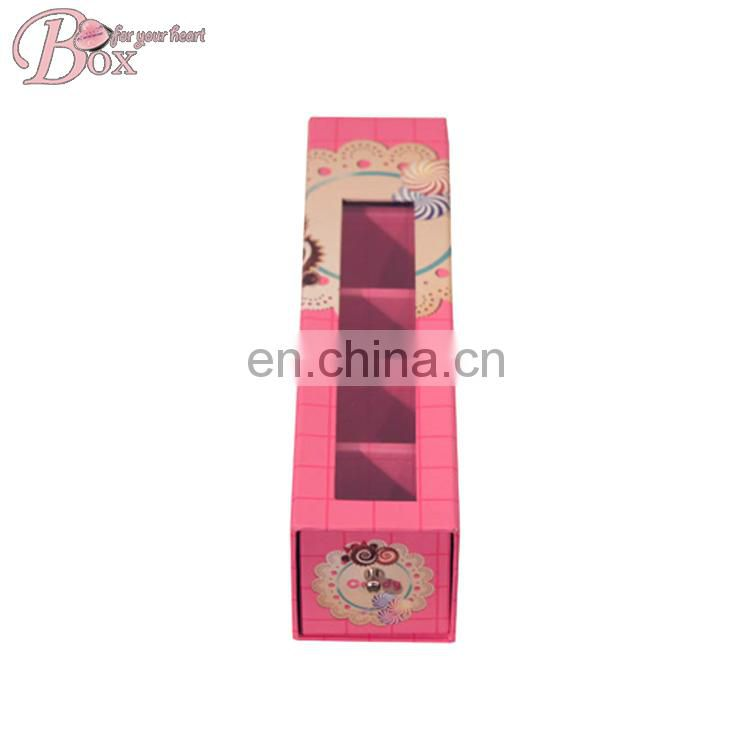 Cardboard Drawer Rectangle Pudding Chocolate Packing Box