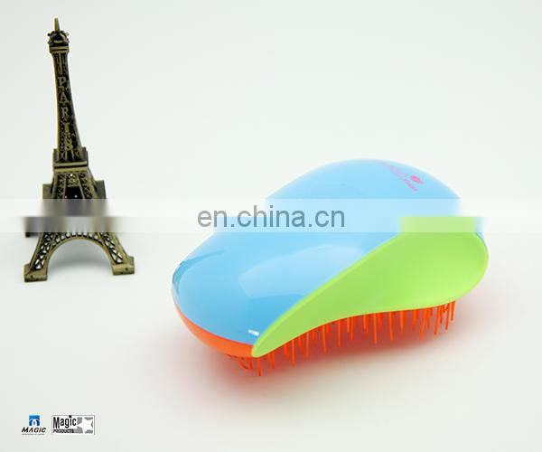 Colorful Comb Pin Brush Plastic Hair Brush With Soft Grip