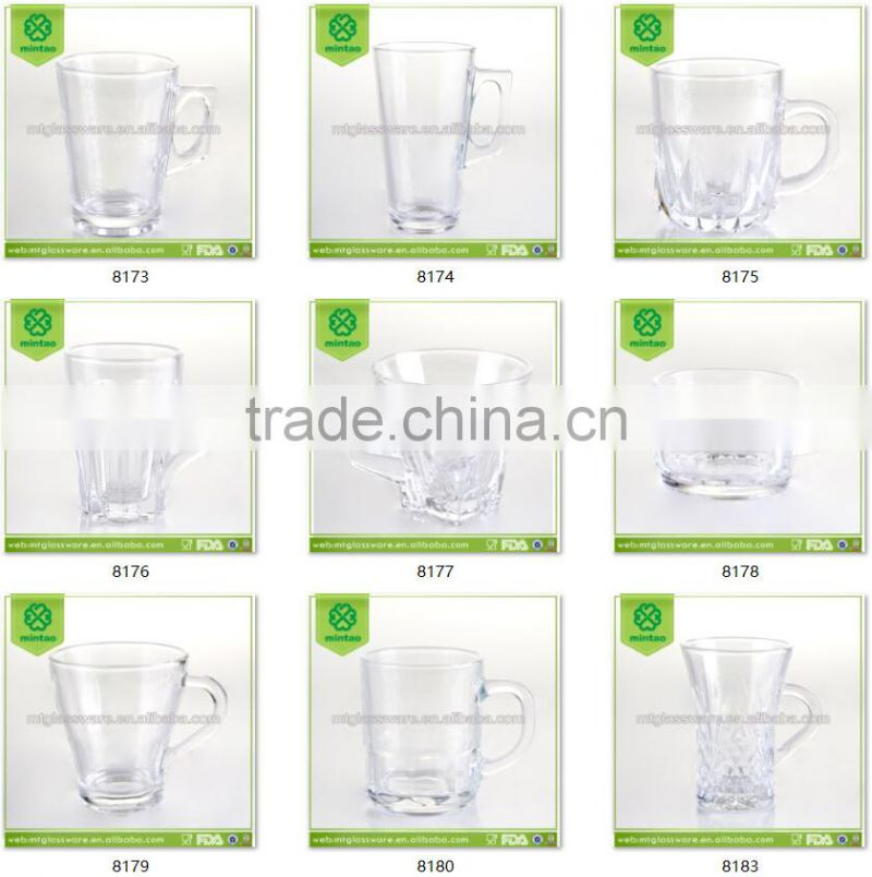 120ml unbreakabe coffee glass cups