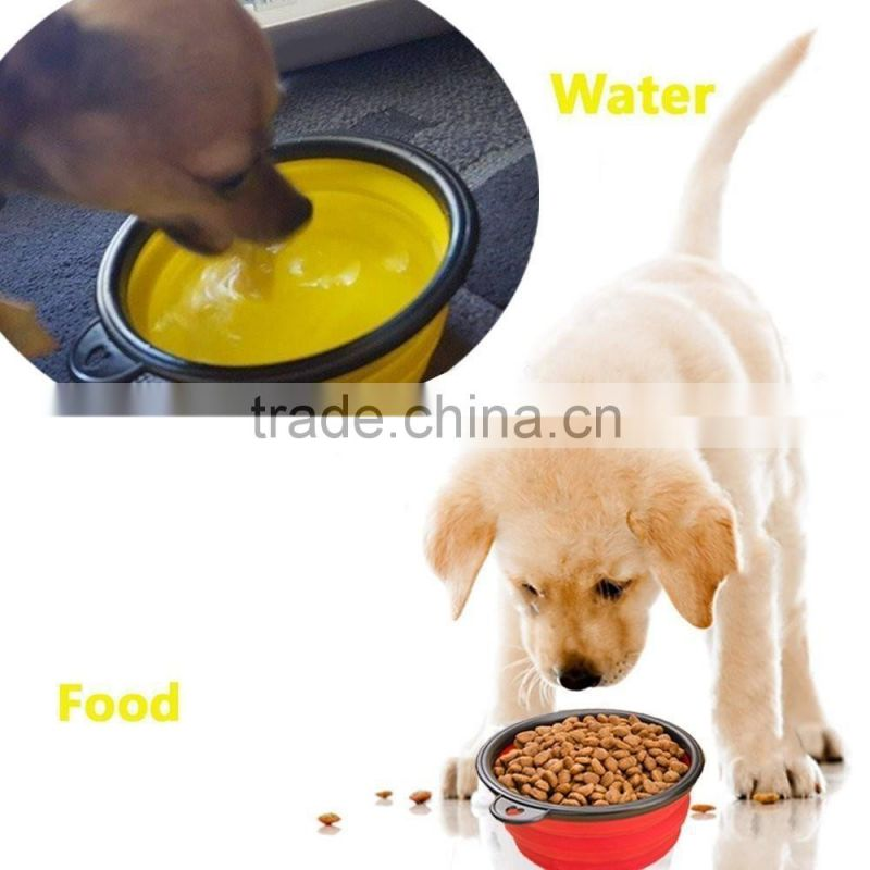 Food Grade Silicone Collapsible Travel Bowl for dog