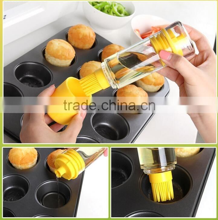 food grade heat resistant silicone oil brush silicone basting brush