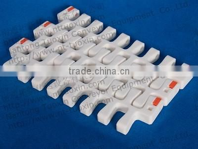 2400D Radius Flush Grid Plastic Conveyor Belt for Food